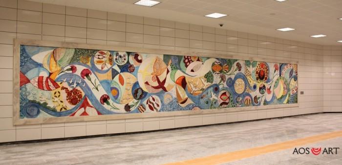 Seramik ve Cam Art Panel Çalışmaları